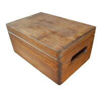 Wooden Serving Box/Trunk whit Lid 30cmx20cmx13.5cm in Brown Color