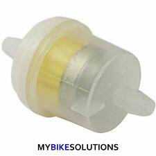 BIKE IT 6MM STANDARD MOTORCYCLE MOTORBIKE PETROL ROUND IN LINE FUEL FILTER
