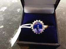 AAA 3.85 ct Tanzanite 18ct Y Gold Ring