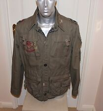 "RIVER ISLAND "" CLUB VOLTRON "" YOSHINO 34/6  MENS FIELD JACKET , MANS size LARGE"