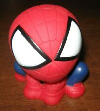 Spiderman Coin Bank Piggy Small Cute 3.25 PVC Figure Change Holder Red Blue Suit