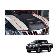 Mitsubishi L200 Triton on 2015 2016 - 17 Bonnet Hood Scoop V5 Cover Matte Black