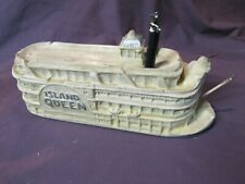 Antique Steamship Island Queen Cincinnati Ohio Plaster Model Ship