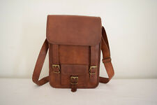 "Real Leather Messenger Bag 13"" Macbook Satchel Crossbody Shoulder Bag Unisex"