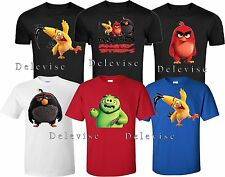 ANGRY BIRDS All Characters Red BOM CHUCK LEONARD funny cute T-Shirts S-4XL