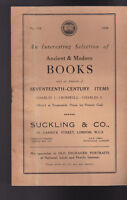 Suckling & Co Catalog 128 1938 Ancient & Modern Books