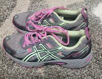 Asics Gel Venture 5 Women's Black Coral Green Running Shoes Size 7 #T5N8N