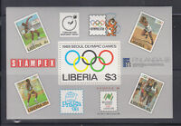 Liberia 1988  Summer Olympics MS Sc 1081 complete Mint Never Hinged