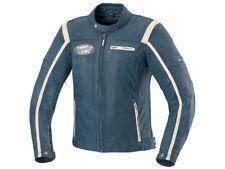iXS Leather Jacket Shawn Blue-Beige Biker Jacket From Buffalo Leather