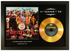THE BEATLES 'SGT. PEPPER'S.....' 50TH ANNIVERSARY SIGNED GOLD DISC DISPLAY
