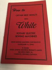 Vintage White Sewing Machine Manual Very Good Condition
