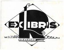 A. C. VAN DEN BERG: Exlibris für W. J. J. van Rossum