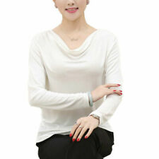 Cowl Neck Blouses White Tops & Shirts for Women