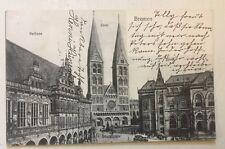 BREMEN • Rathaus Dom • Verlag Alb. Rosenthal • 18.8.1905 n. Petersfehn Oldbg.
