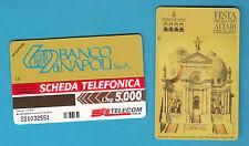 SCHEDA TELECOM FESTA QUATTRO ALTARI TORRE DEL GRECO  GOLDEN 654 SC. 31.12..99