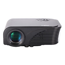 Mini Portable HD Home LED LCD Projector VGA USB HDMI 1080P with Speakers Black
