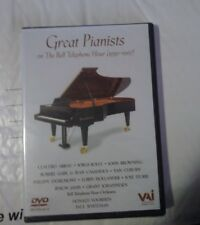 Great Pianists Of The Bell Telephone Hour New Dvd