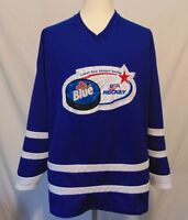 Labatt Blue Beer U S A  Adult Hockey Mens XL Sewn Hockey Jersey Made In Canada