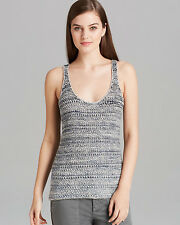 VINCE Sexy Casual Sleeveless Racerback Sweater Tank Top Shirt Blouse Grey L $220