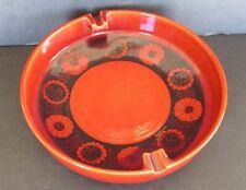 "Vtg Italy Italian Raymor Bistossi MCM Pottery Cigar Ashtray Flowers 10.5"" Bowl"