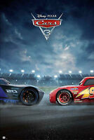 Disney Cars - 3 - Duell - Film Kino Movie Poster Plakat Druck - Größe 61x91,5 cm