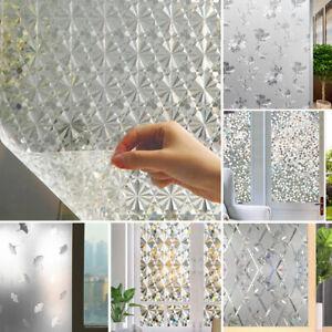 Self-adhesive PVC Film Bathroom Glass Door Privacy Static Cover Sticker Decor