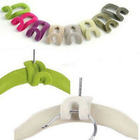 5 pcs Creative Mini Flocking Clothes Hanger Hook Closet Organizer Wardrobe Home