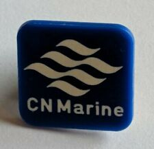 Vintage CN Marine Plastic Lapel Pin Ferry Newfoundland PEI Atlantic Maritime