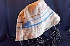 KANGOL Childs Kids KNIT Casual Bucket HAT Cream & Blue Free Shipping