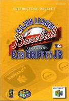 Major League Baseball Ken Griffey Jr - Authentic Nintendo 64 (N64) Manual