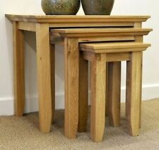 Oak Less than 60cm No Assembly Required 3 Nested Tables
