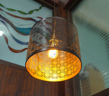 Hip Vintage Industrial Steel Drum Pendant Fixture - Retro restaurant Shade Lamp