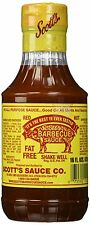 Scott's Spicy Barbecue Sauce 16 oz Sugar Free Fat Free Pack of 3