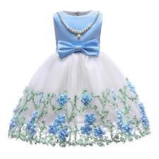 Flower Girl Princess Dress Kid Party Wedding Pageant Formal Tutu Dresses Clothes