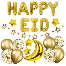 Happy Eid Mubarak Banner Hanging Sign for Indoor/Outdoor Decoration Set