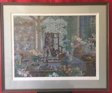 "John Powell ""Interior with Chair"" Serigraph Signed Numbered Framed Art Work"