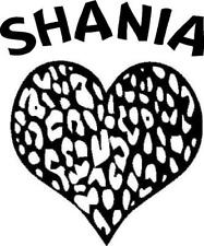 Personalized Name and Leopard Heart vinyl decal/sticker window girl Custom