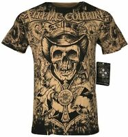 XTREME COUTURE by AFFLICTION Men T-Shirt THE CONJURING Biker MMA GYM S-2X $40