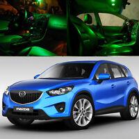 For 2013-2015 SUV Mazda CX5 CX-5 Green Interior LED Light Bulb Lamp Package Kit