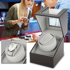 PU Leather Watch Winder Noise-free Storage Display Box 2+6 Automatic Rotation