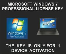 Windows 7 Professional License Key, 1 PC Activation, Genuine Key, With Link