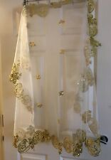 Uzbek Bride Veil Scarf Golden Oriental Wedding