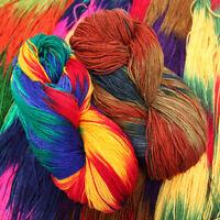 Tie Dyeed Baby Scarf Knitting Wool Hand Crocheted Cotton Yarn Soft DIY Wool Yarn