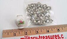 50 Dollhouse Store Miniature $1 Money Bills Cash & Porcelain China Rose Vase