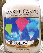 "SET OF 2 Yankee Candle 22 oz. Large ""WINDBLOWN"" ~ Fresh ~ WHITE LABEL ~ NEW"