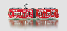 SIKU 1:55 MODELLO DIE CAST TRAM RACING ACTION CART ROSSO TRAMWAY ART 3726