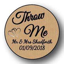 35 KRAFT WEDDING THROW ME 37 MM PERSONALISED  ANNIVERSARY  STICKER LABELS