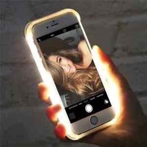 LED Flash Cases For iPhone 12 X XS MAX XR 8 7 Selfie Light 11 Pro 6 6s Plus 5 5s