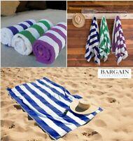Luxury 100% Cotton Beach Towels Swimming Pool Towel Stripe Soft Large Bath Sheet