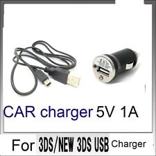 CAR POWER AC CHARGER CABLE FOR  Nintendo DSi NDSi DSiXL 3DS 3DSXL/LL NEW3DS /BX